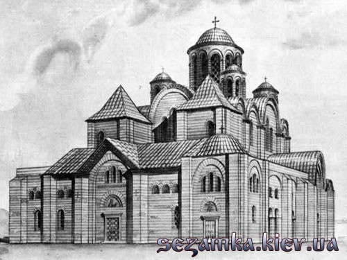 Реконструкция 1982 года. Десятинная Церковь  Достопримечательности Киева - Культовые сооружения  (137)